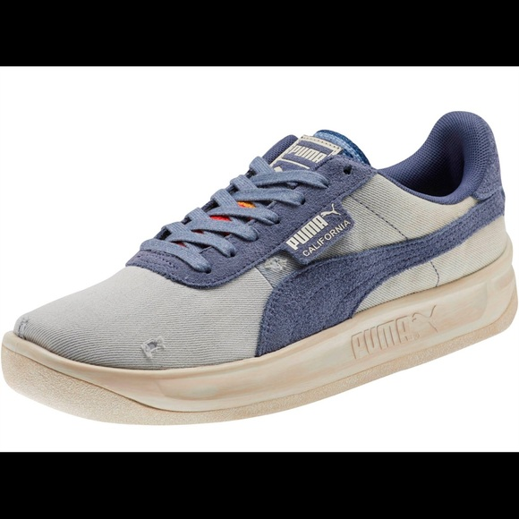 Puma California Denim Vintage Distressed Shoes
